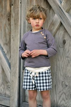 Art Summer Sweatshirt | Gingham Drawstring Shorts kid-clothes-store-bought