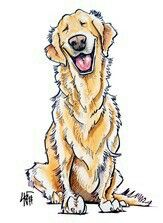 Loving dog drawing!! I wish I knew who drew this!