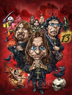 black sabbath caricature - Google Search