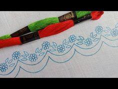 আধুনিক ডিজাইনের ফুলকারি বর্ডার লাইন হাতের সেলাই কামিজ/শাড়ি/ওড়না-38,কামিজে এমব্রয়ডারি করুন নিজেই -38 - YouTube Bargello, Embroidery Dress, Blouse Designs, Stitching, Cross Stitch Embroidery, Craft, Flower, Types Of Embroidery, Hipster Stuff