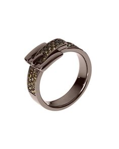 Birthday wish! I think I like this color better? Pave Buckle Ring, Espresso by Michael Kors at Neiman Marcus.