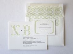 love the simplicity of these invitations by Erin Jang for Bella Figura
