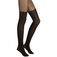 Illusion thigh-high tights ($12) ❤ liked on Polyvore featuring intimates, hosiery and tights