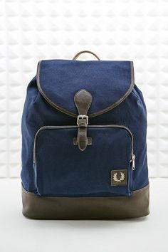Fred Perry Canvas Backpack in Navy...