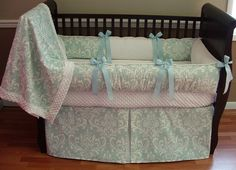 Caden Baby Bedding  Included in this set is the bumper, blanket and crib skirt.