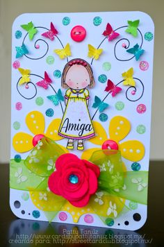 Diy Crafts For Girls, Diy And Crafts, Paper Crafts, Decorate Notebook, Button Cards, Vintage Paper Dolls, Watercolor Cards, Kids Cards, Cool Cards