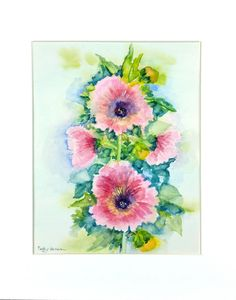 Excited to share the latest addition to my #etsy shop: Hollyhock Watercolor, Hollyhock Painting, Original Watercolor, Home Decor, Gift, Floral Watercolor http://etsy.me/2k07GWA #art #painting #pink #hollyhock #floralwatercolor #hollyhockpainting #hollyhockwatercolor #gardenpainti