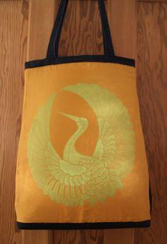 Kimono Silk Tote Bag by RagRiches on Etsy