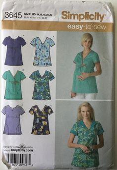 9c59429070c Vogue 2750 Designer Empire Waist Maternity Wrap Dress Pattern Lauren ...