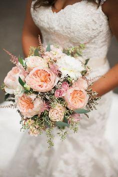 David Austin Juliet Garden Rose Bridal Bouquet