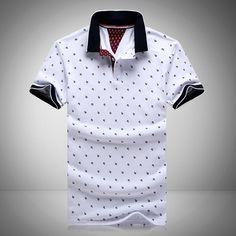 Nova marca polos mens impresso polo camisas 100% algodão curta manga camisas polo estande casuais colarinho masculino camisa polo 4xl EDA234 em Polo de Dos homens de Roupas & Acessórios no AliExpress.com | Alibaba Group