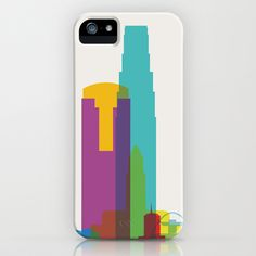 Shapes of Los Angeles accurate to scale iPhone & iPod Case