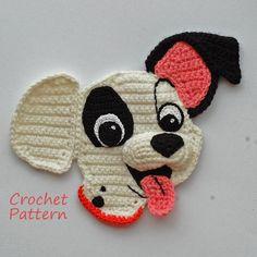 Crochet Pattern. Applique. Patch 101 Dalmatians