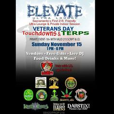 This Sunday! Veterans get in free with proof of service! Get your documentation into @elevate_ultra_lounge #thcforptsd #cbdforptsd #wfwp #meds4vets #scva #veteraninneed #california #prop215 by meds4vets