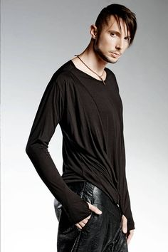 BLACK Assymetrical Top with pleats Highest Quality Italian