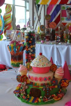 Candy Land Sweet Shoppe Birthday Party Ideas   Photo 16 of 68   Catch My Party