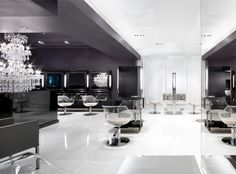 gray + black + white Kerastase salon