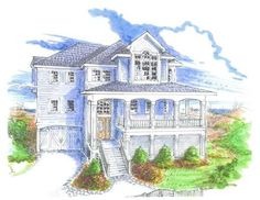 This Beachfront House Plan Features 4 Bedroom, 2 Master Suites With Large  Bath, 3.5