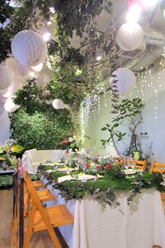 Then, begin assigning numbers to each product according to how much you believe it costs or just how much you feel comfy costs on each. Enchanted Forest Party, Fairytale Party, Floral Wedding, Wedding Flowers, Forest Theme, Forest Decor, Forest Wedding, Woodland Wedding, Decorating Small Spaces