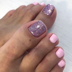 7 Romantic Purple Toe Nail Design Ideas To Choose In 2019 - Pink Purple Powder A. - 7 Romantic Purple Toe Nail Design Ideas To Choose In 2019 – Pink Purple Powder Accent Toe Nails - Glitter Toe Nails, Purple Toe Nails, Pretty Toe Nails, Toe Nail Color, Cute Toe Nails, Summer Toe Nails, Toe Nail Art, Nail Colors, My Nails