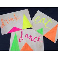 It's a Neon Party!! Can't wait to see this at its wedding!!
