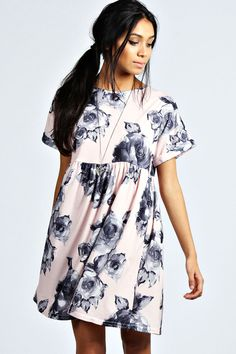 Jessica Rose Smock Dress at boohoo.com