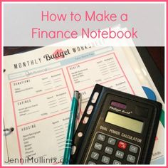 """How to Create a Budgeting Notebook (with Printable)"" Love the Printables! A great way to motivate yourself to getting on top of your finances - MilitaryAvenue.com"