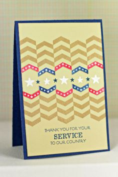 Thank You For Your Service Card by Erin Lincoln for Papertrey Ink (January 2014)