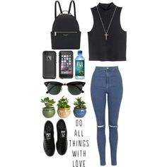 Chill day by ziamsangelz on Polyvore featuring polyvore, moda, style, H&M, Topshop, adidas, Henri Bendel, Gucci, Ray-Ban and LifeProof