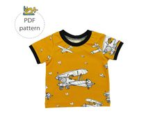 Baby t-shirt sewing pattern, long sleeve t-shirt pattern, short sleeve t-shirt pattern, pdf sewing pattern, basic tee sewing pattern T Shirt Sewing Pattern, Pdf Sewing Patterns, Top Pattern, Sewing Ideas, Very Cute Baby, Make Your Own Clothes, Skinny, Sewing Clothes, 6 Years
