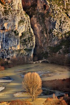 This is my Greece | The old stone bridge of Portitsa, in Grevena Prefecture. The river that runs below is Venetikos, afluent of Aliakmonas river, the longest river in Greece.