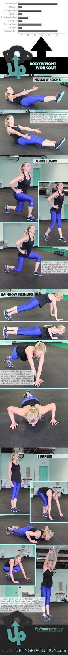 10 Minute Body Weight Workout: Pop Up