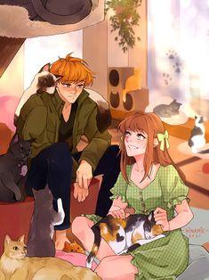 Manga Anime, Anime Art, Otaku, Basket Drawing, Neji E Tenten, Fruits Basket Manga, Yuki Sohma, Kawaii, Anime Ships