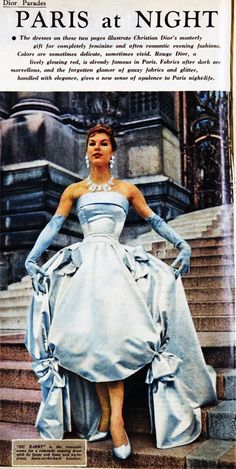 """1957 - Victoire in Christian Dior's """"Du Barry"""" dress"""