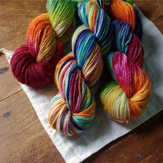 Worsted Merino Yarn - Cosmic Rainbow