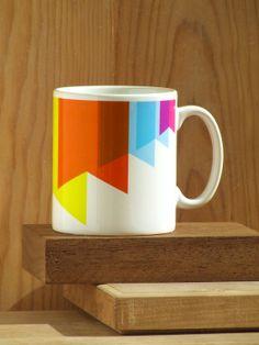 Alfama Paper Flags Mug 01 by Alfamarama on Etsy, £7.00