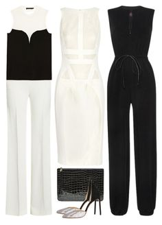 """Black + White"" by cherieaustin ❤ liked on Polyvore featuring Roland Mouret, Calvin Klein Collection, Antonio Berardi, Alexander McQueen, Francesco Russo and Martin Grant"