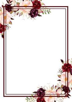 Latest Photos Watercolor Modern Wedding Invites - Affordable Wedding Invitations - Anthology C . Flower Background Wallpaper, Flower Phone Wallpaper, Framed Wallpaper, Flower Backgrounds, Wedding Invitation Background, Flower Invitation, Wedding Borders, Free Printable Wedding Invitations, Floral Border