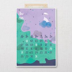 """Calendar DIN A3 """"dream catcher""""    Five before ten A3, Dream Catcher, Calendar, Interior Design, Lighting, Wall Calendars, Ideas, Nice Asses, Nest Design"""