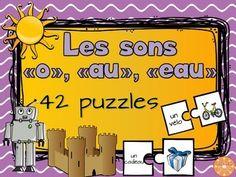 Les sons o-eau-au - 42 puzzles