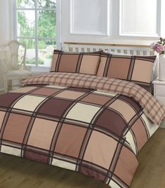 Logan Printed Chocolate Duvet Quilt Cover Bedding Set – Linen and Bedding