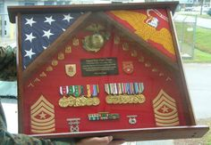 Shadow Boxes,Flag Case,Sword Case,uniform shadow boxes,wooden chevrons and sword holders Military Shadow Box, Military Crafts, Going Away Gifts, Marine Corps, Usmc, Wooden Boxes, Retirement, Promotion, Craft Ideas