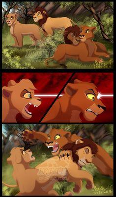 MotP - Aftermath: Part 4 by Irete on DeviantArt Lion King Story, Lion King Fan Art, Lion Art, Lion King Kovu, Kiara And Kovu, Lion Sketch, Lion King Drawings, Lion King Pictures, Photo To Cartoon