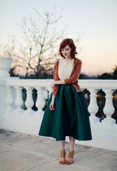 Big green midi skirt