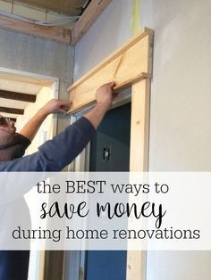 Great practical tips for how to save money during home renovations - lots of things to consider! Must pin for future reference! #fixerupper #homeimprovement #ad