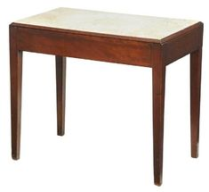 For Auction: American Federal Cherry Biscuit Table ( on Jul 2019 Marble Top, White Marble, Southern Furniture, Cherry Drops, Auction Bid, Saved Items, Log Homes, Door Knobs, Biscuits
