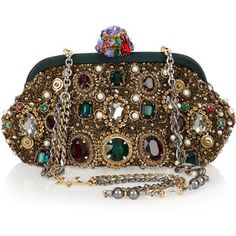 Dolce & Gabbana Jewel and pearl-embellished clutch