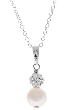 Hope pendant - pearl and rhinestone / diamante bridal pendant from Lou Lou Belle Designs http://www.louloubelle.co.uk/pendants_bridal.html#