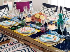 Collage-Inspired Tablescape
