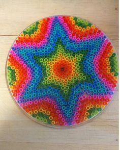 Mandala Pyssla- hama perler bead designen by Sofia Aranda